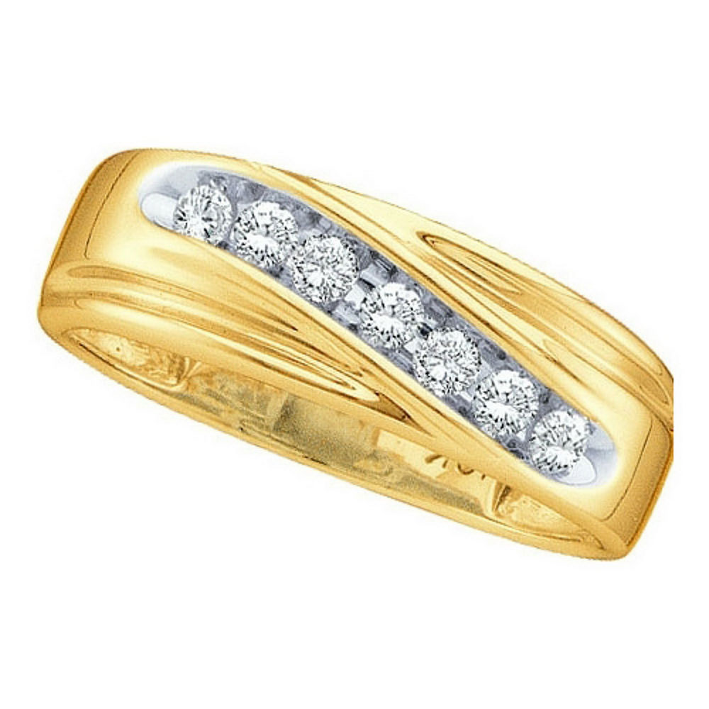 Lot 3178: Channel-Set 10k Yellow Gold