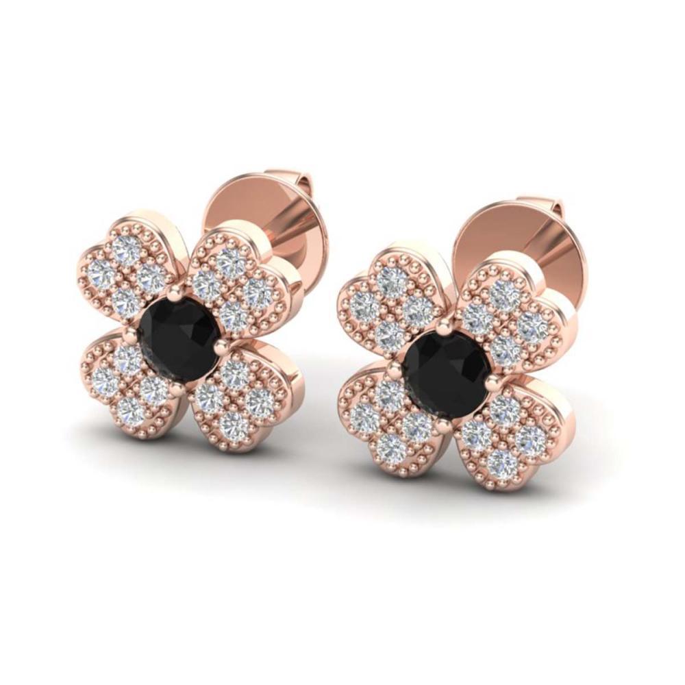 Lot 3192: 0.54 CTW Genuine SI1-SI2 Diamond Earrings 14K Rose Gold