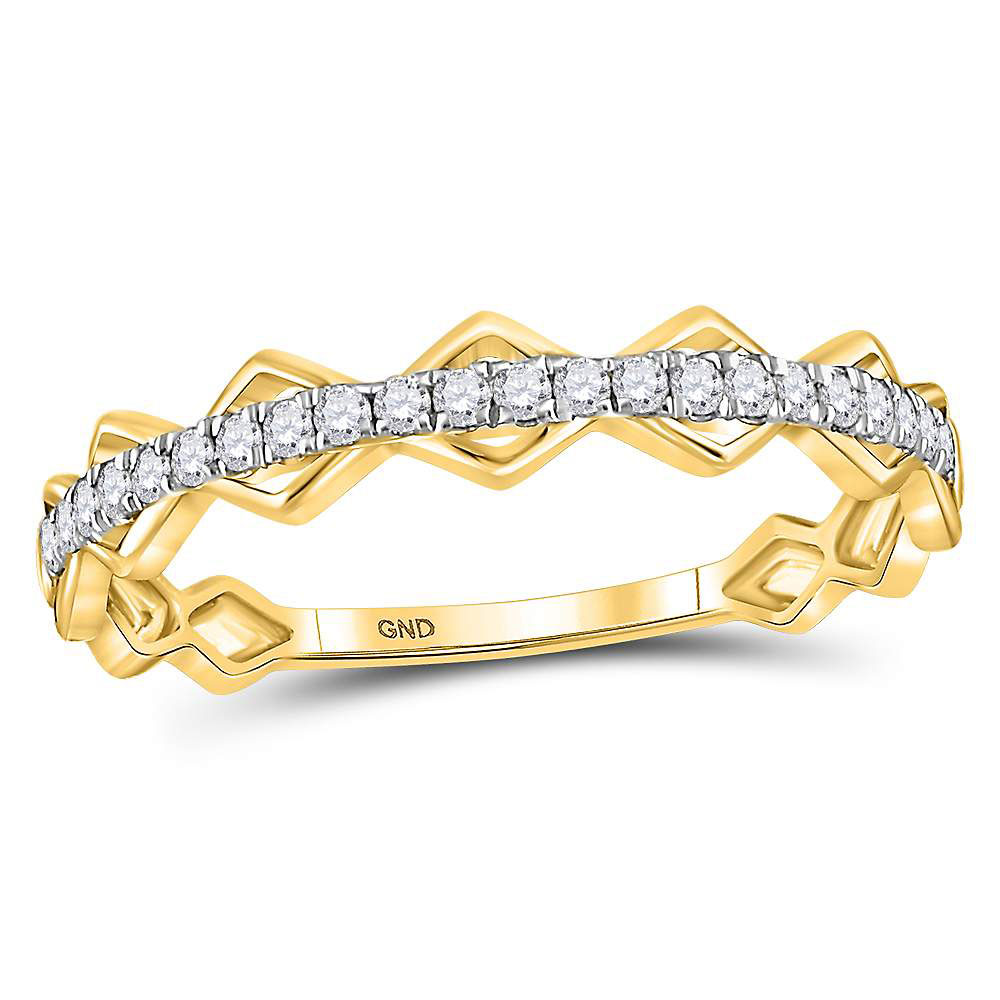 Diamond Stackable Band 10kt Yellow Gold