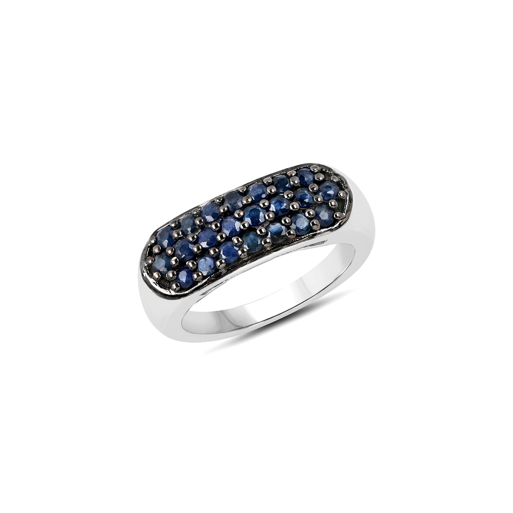 Lot 3005: 0.99 CTW Genuine Blue Sapphire .925 Sterling Silver Ring