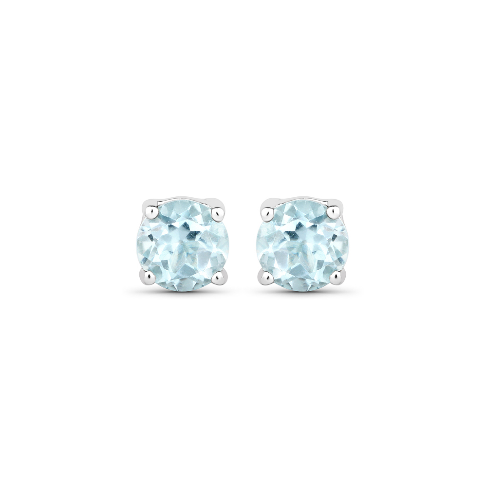Lot 3059: 1.20 CTW Genuine Blue Topaz .925 Sterling Silver Earrings