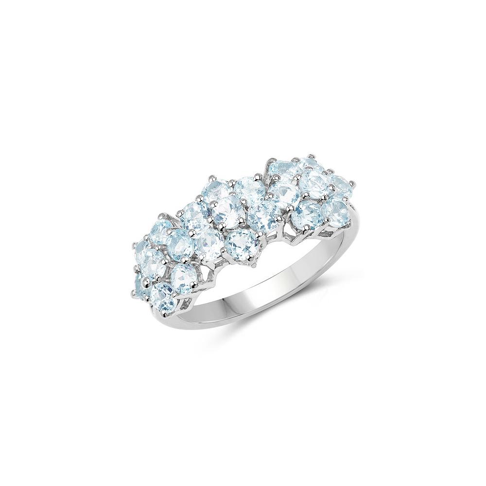 2.52 CTW Genuine Blue Topaz .925 Sterling Silver Ring