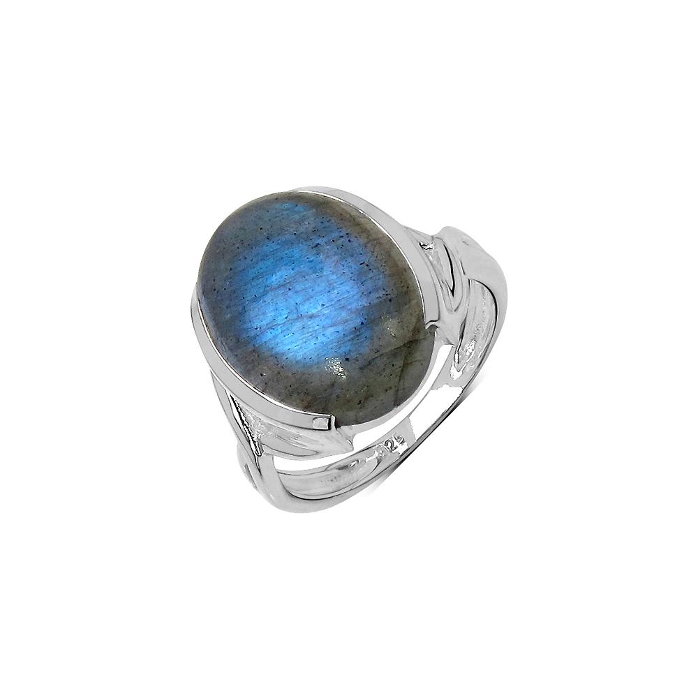 10.80 CTW Genuine Labradorite .925 Streling Silver Ring