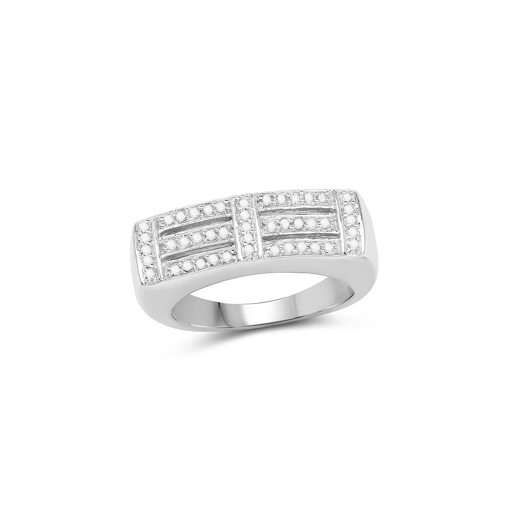 0.25 CTW Genuine White Diamond .925 Sterling Silver Ring