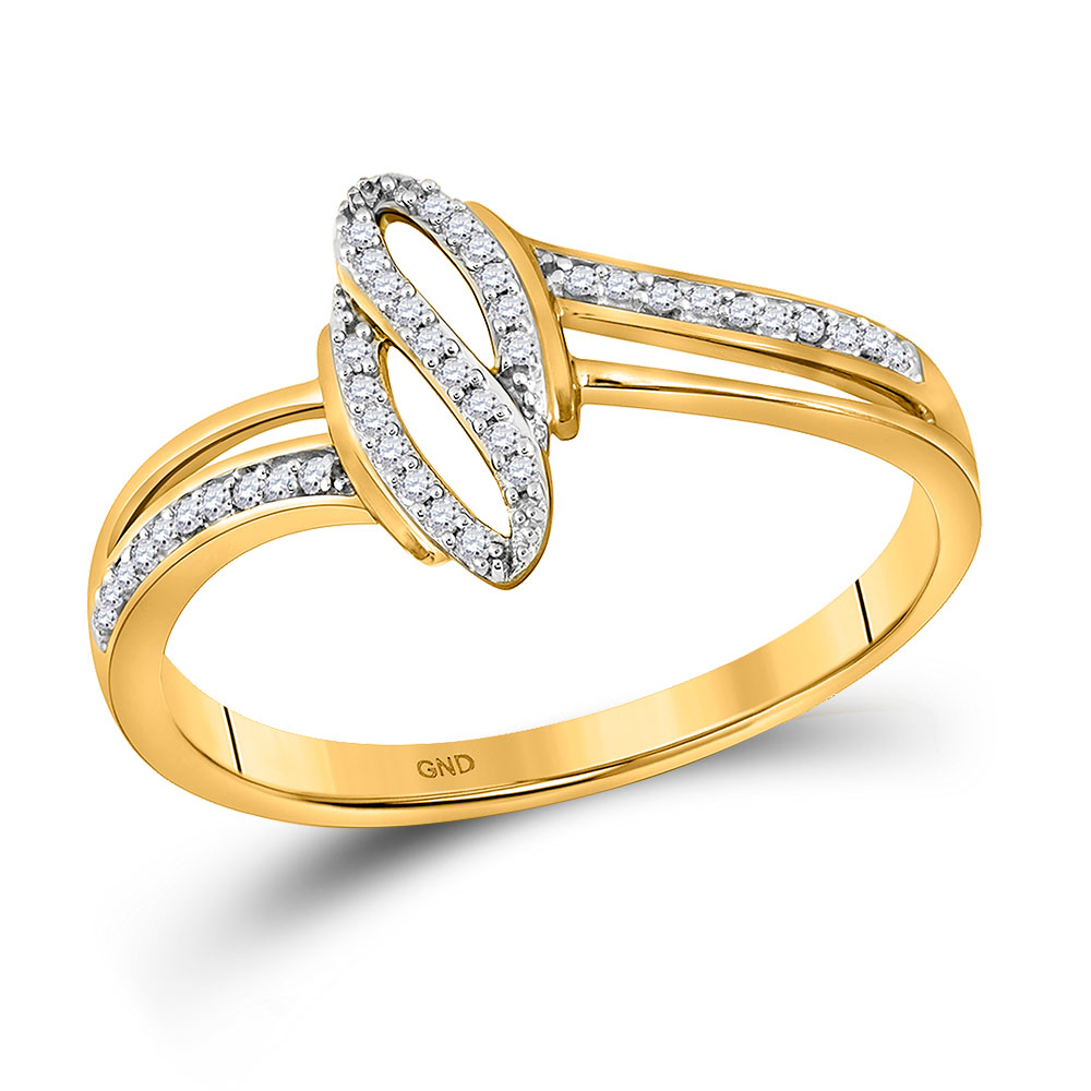 Diamond Fashion Ring 10kt Yellow Gold