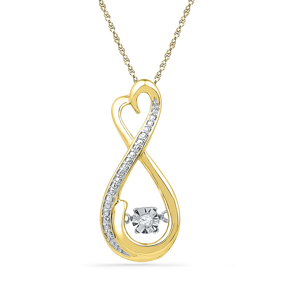 Lot 30026: Diamond Infinity Moving Twinkle Pendant 10kt Yellow Gold