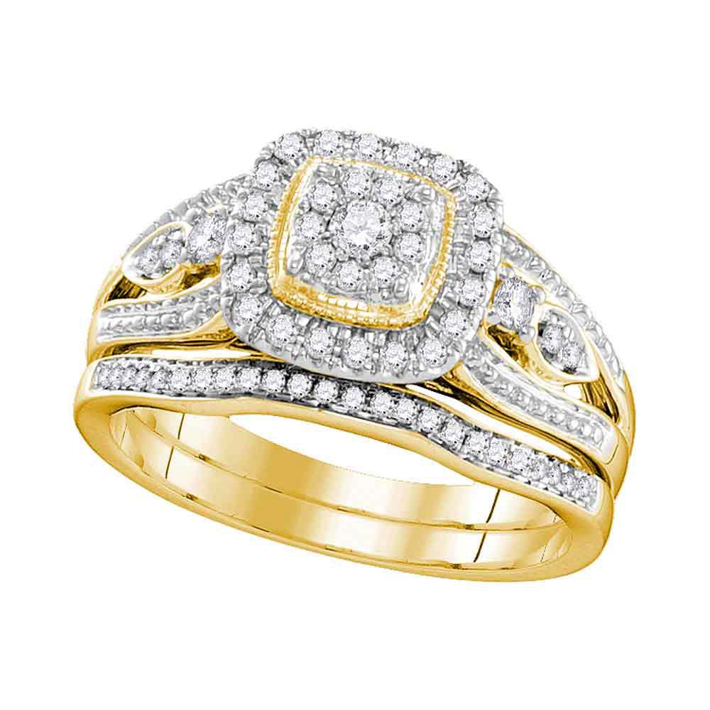 Diamond Bridal Wedding Engagement Ring 10kt Yellow Gold