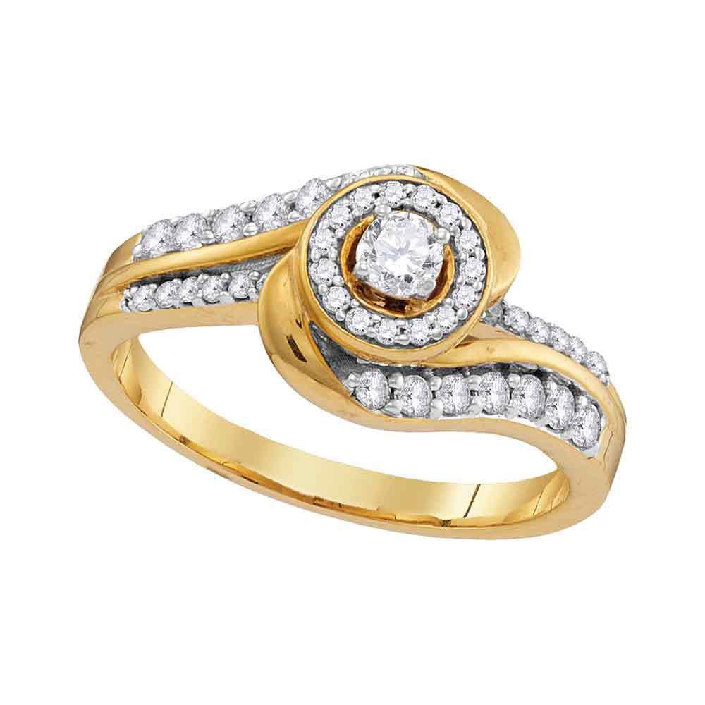 Diamond Bridal Wedding Engagement Anniversary Ring 10k Yellow Gold