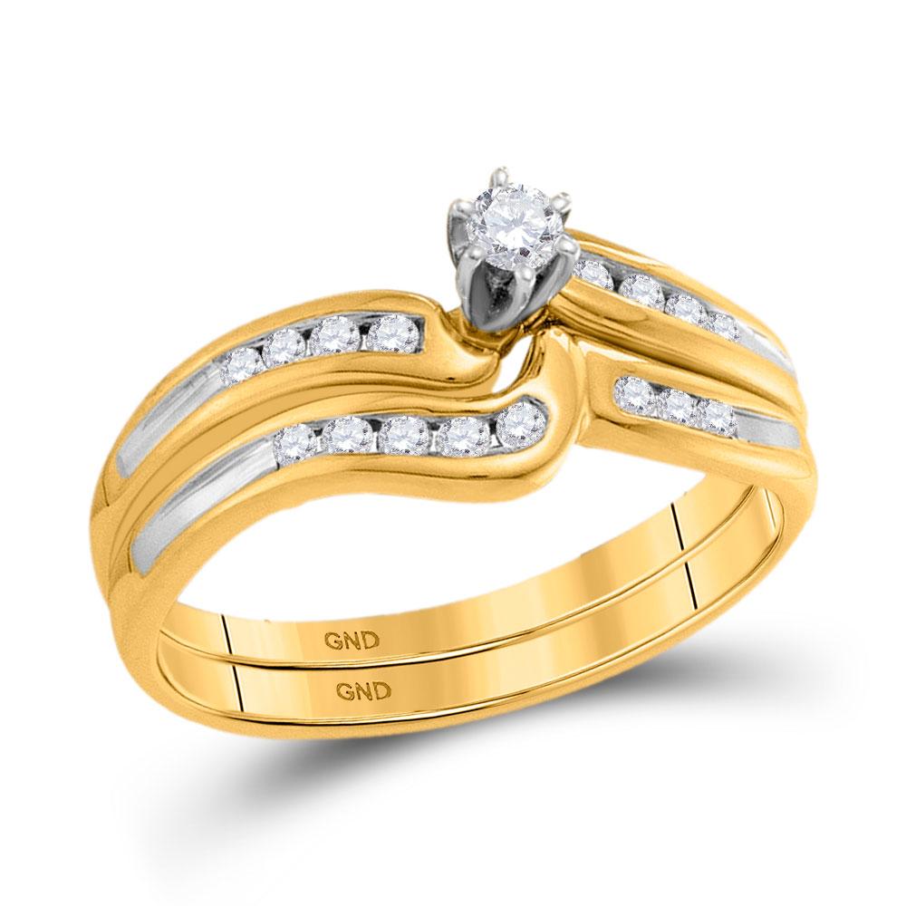 Lot 30189: Diamond Bridal Wedding Engagement Ring 10kt Yellow Gold