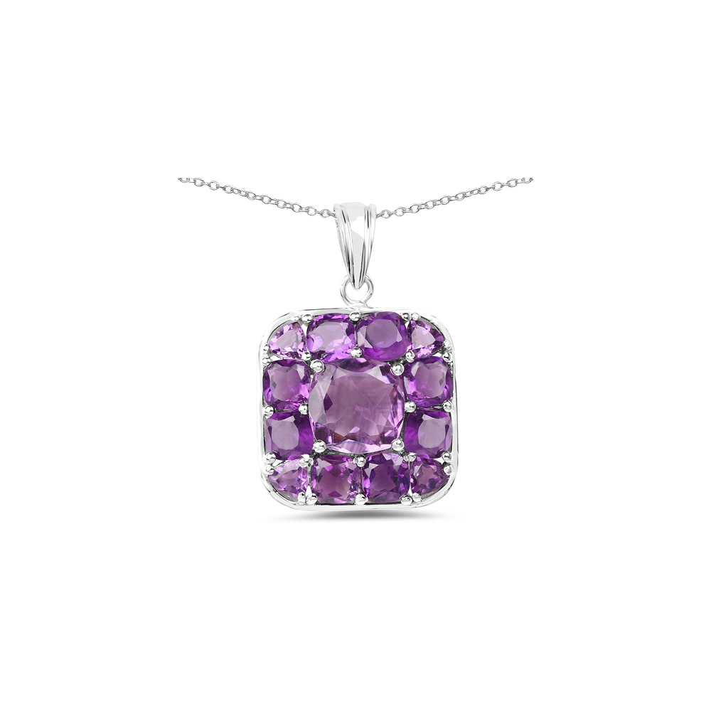 Lot 30005: 8.20 CTW Genuine Amethyst .925 Sterling Silver Pendant