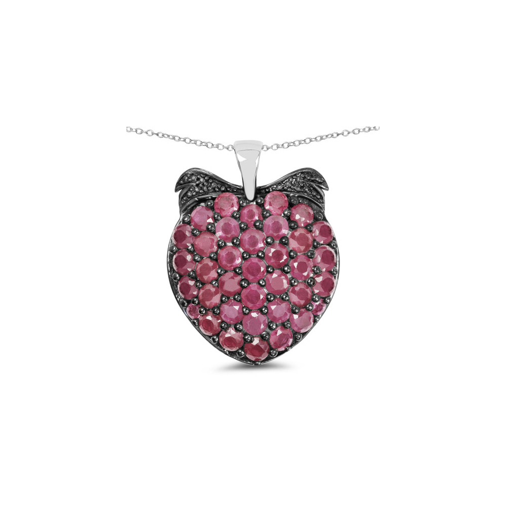 Lot 30014: 4.51 CTW Genuine Ruby .925 Sterling Silver Pendant