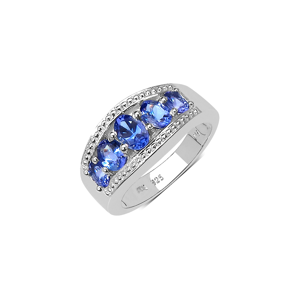 Lot 30150: 1.42 CTW Genuine Tanzanite .925 Sterling Silver Ring