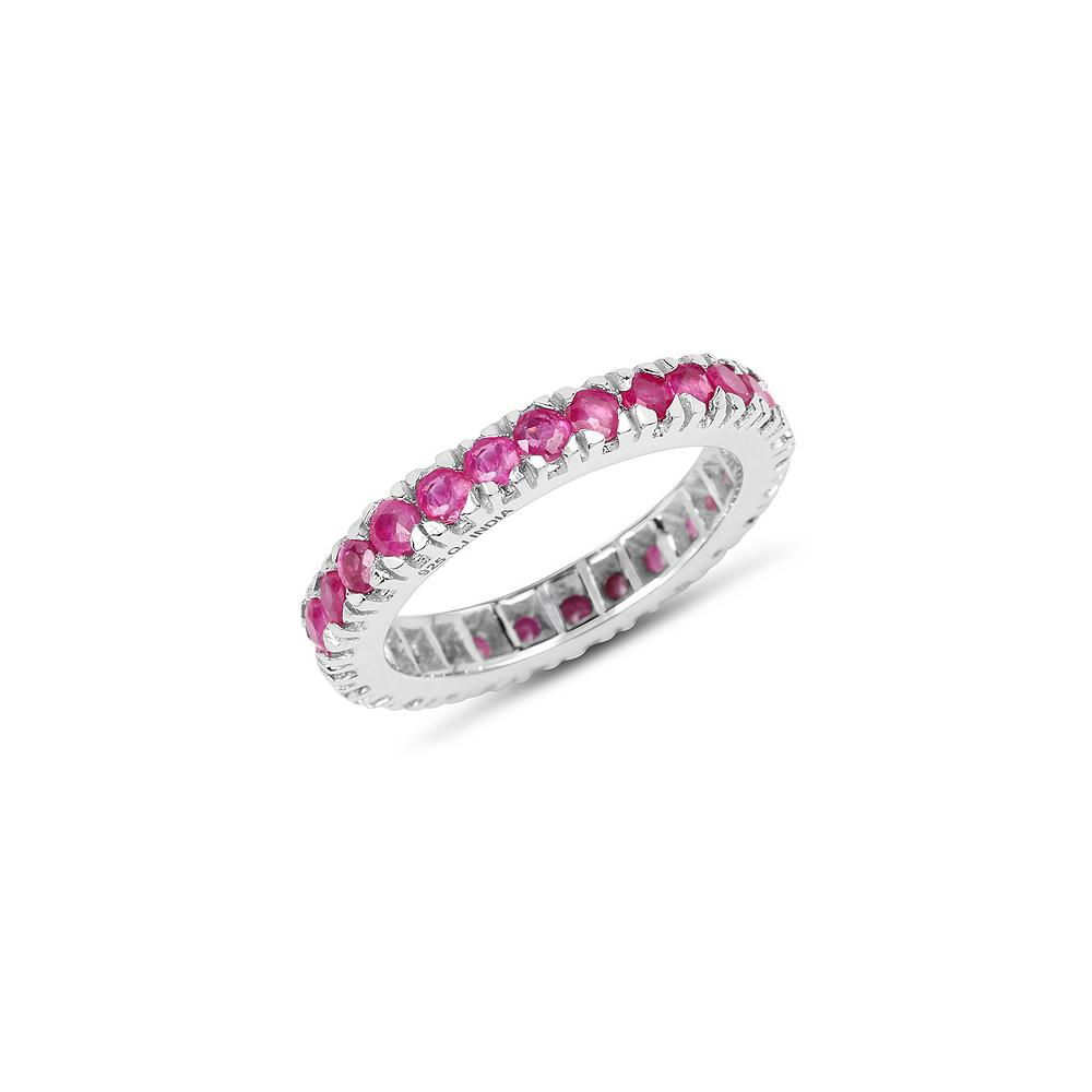2.16 CTW Genuine Ruby .925 Sterling Silver Ring