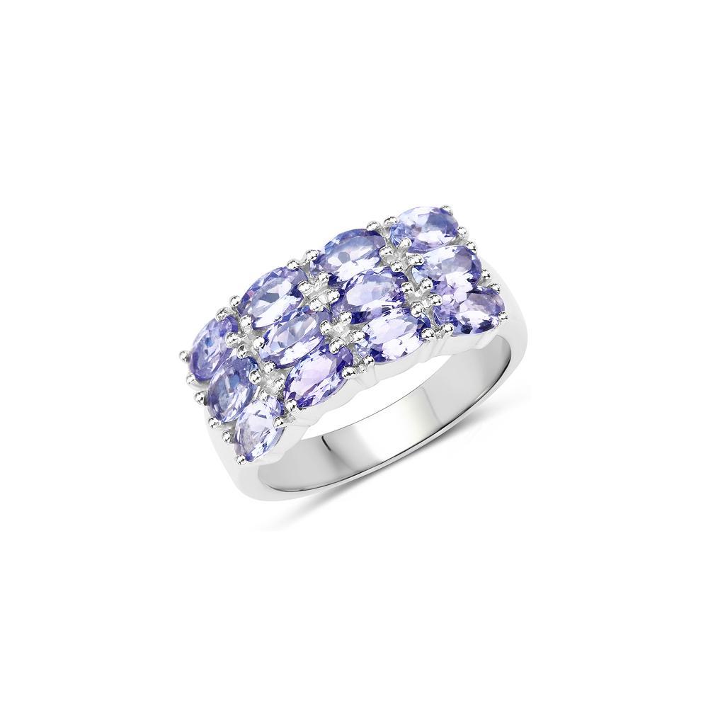 3.00 CTW Genuine Tanzanite .925 Sterling Silver Ring