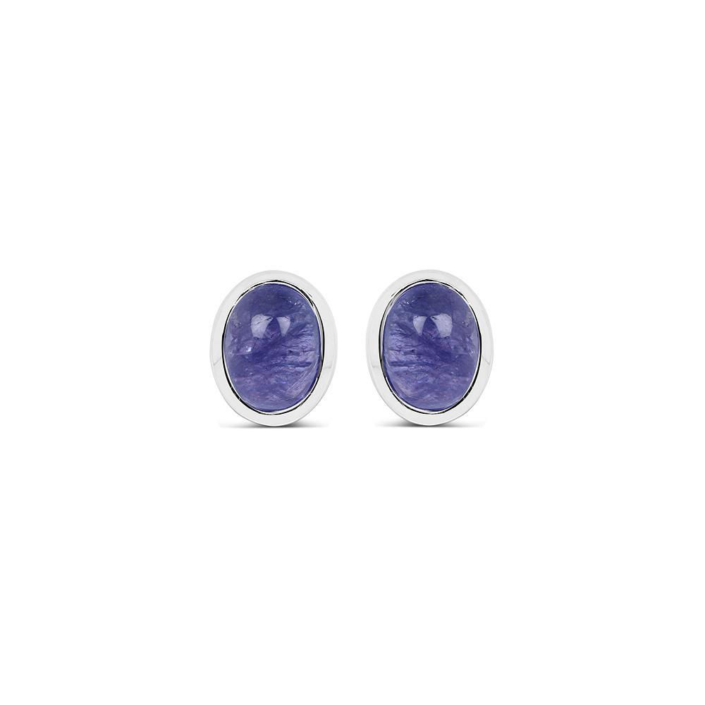 2.50 CTW Genuine Tanzanite .925 Sterling Silver Earrings