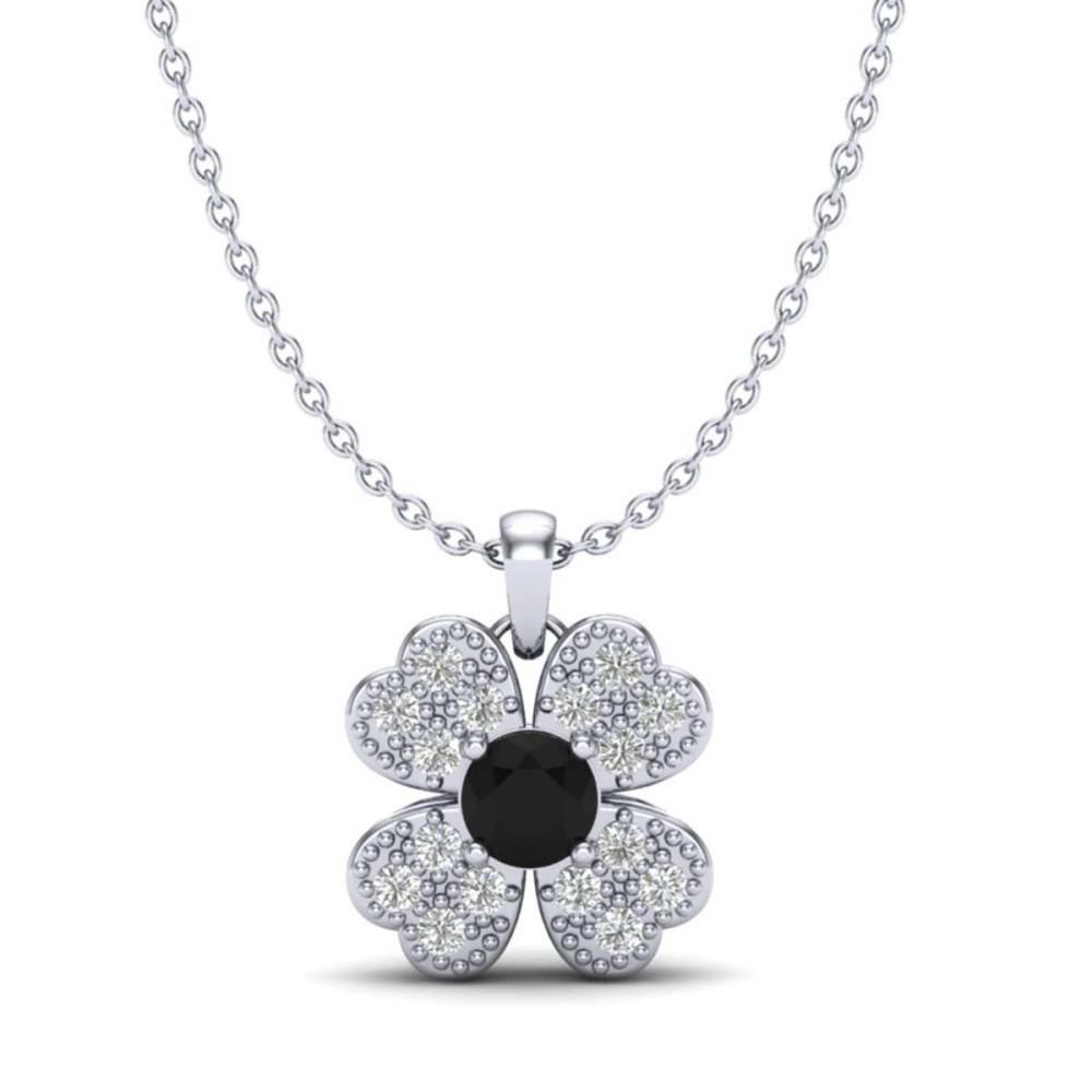 0.27 CTW Genuine SI1-SI2 Diamond Necklace 18K White Gold