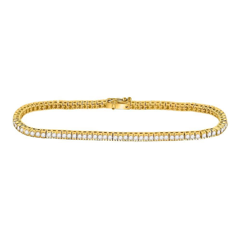 Diamond Studded Tennis Bracelet 14kt Yellow Gold