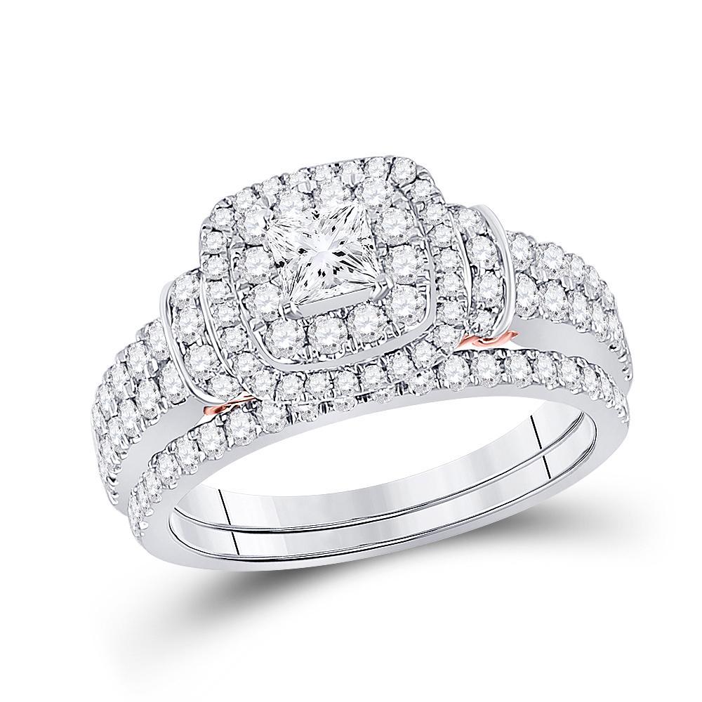 Diamond Bellissimo Bridal Wedding Engagement Ring 14kt Two-tone Gold