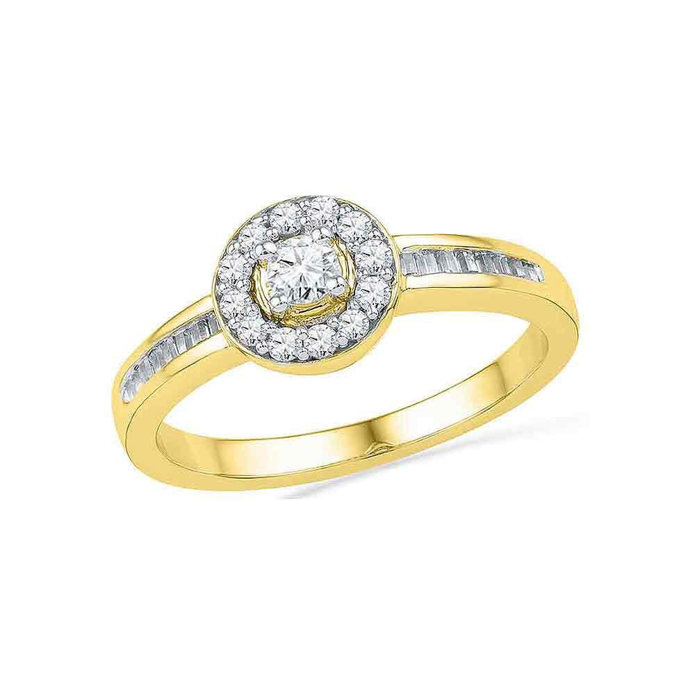 Diamond Solitaire Bridal Wedding Engagement Ring 10kt Yellow Gold