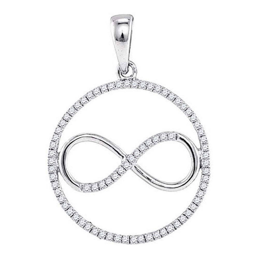 Diamond Infinity Circle Pendant Sterling Silver