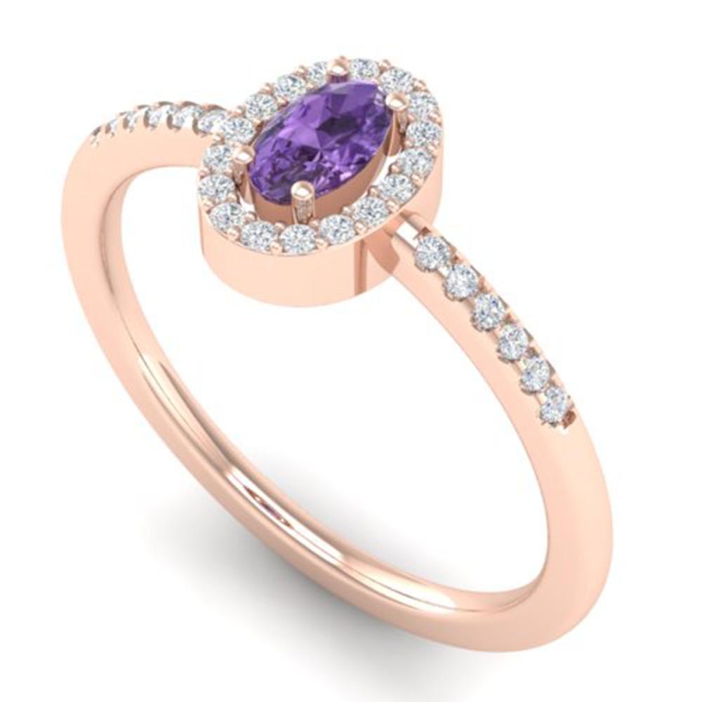 Nathis Large Purple Amethyst Oval Bezel Ring