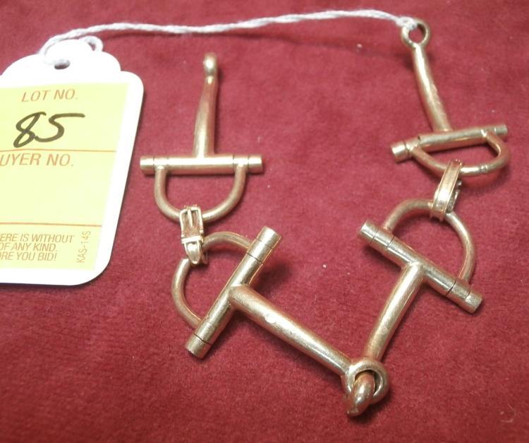 d800d824e Lot 85: 18Kt Yellow Gold Hermes Horse Bit Bracelet