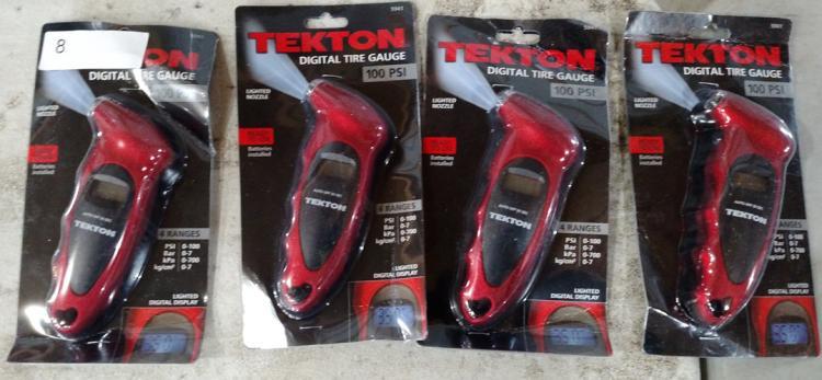 Lot 8: (4) Texton digital tire gauges