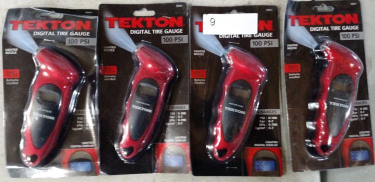 Lot 9: (4) Texton digital tire gauges