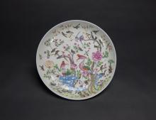 Republic-A Famille-Glazed Phoenix And Hundred Birds Plate
