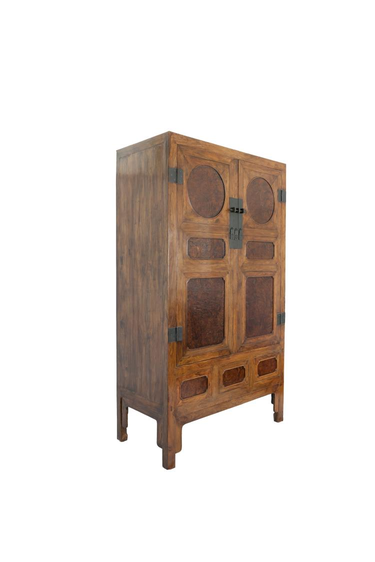17th century a huanghuali insert burl wood cabinet for Asian furniture uk