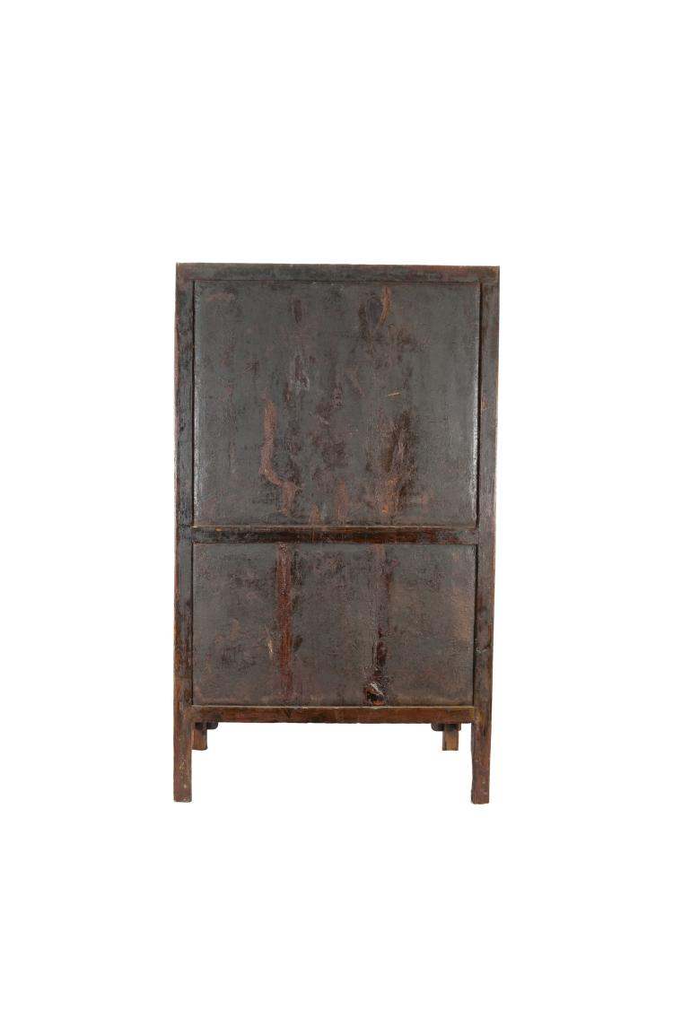 17th century a huanghuali insert burl wood cabinet for Burl wood kitchen cabinets