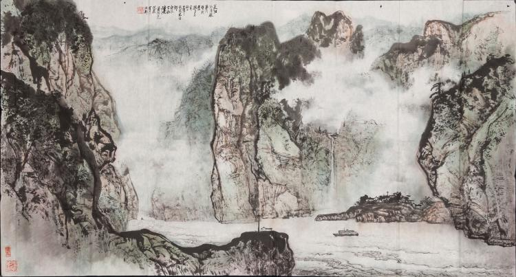 Huang Chunyao - Ink And Color On Paper, Unmounted, Signed And Seals