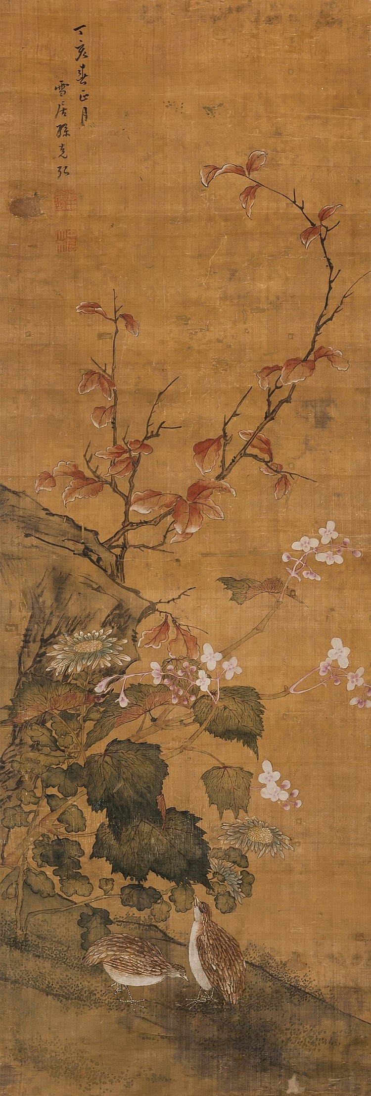 Sun KeHong (1522-1611) Birds And Flowers