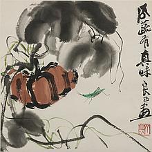 Qi LiangYi (1921-xx) Pumpkin