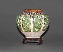 Tang Dynasty. A San Cai Jug With Wood Stand