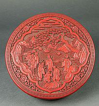 18Th-19Th Century A Carved Polychrome Lacquer Circular
