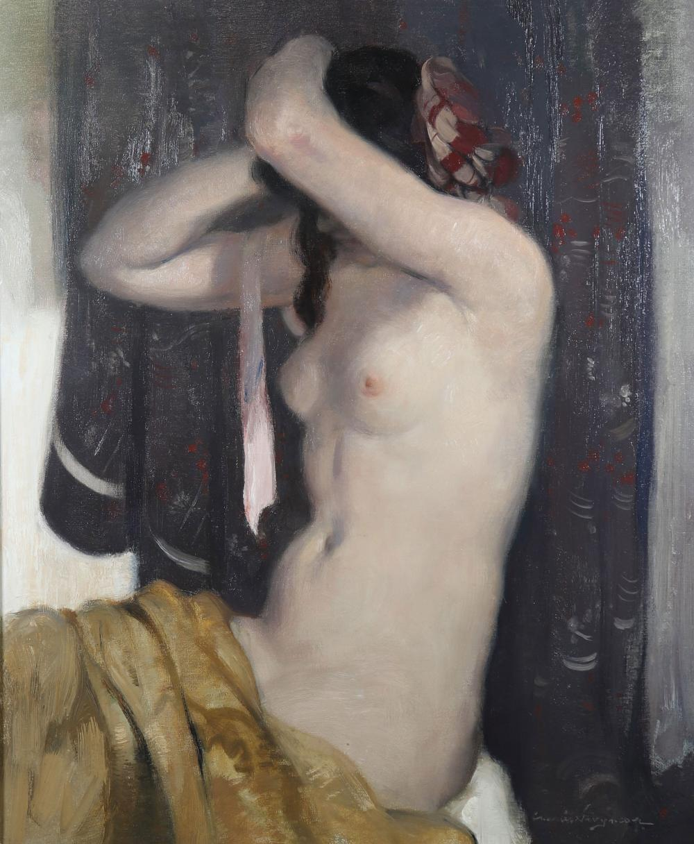 """Charles SWYNCOP (1895-1970) """"naked young woman"""" Sizes: Cadre L=775mm H=880mm peinture L=530mm H"""