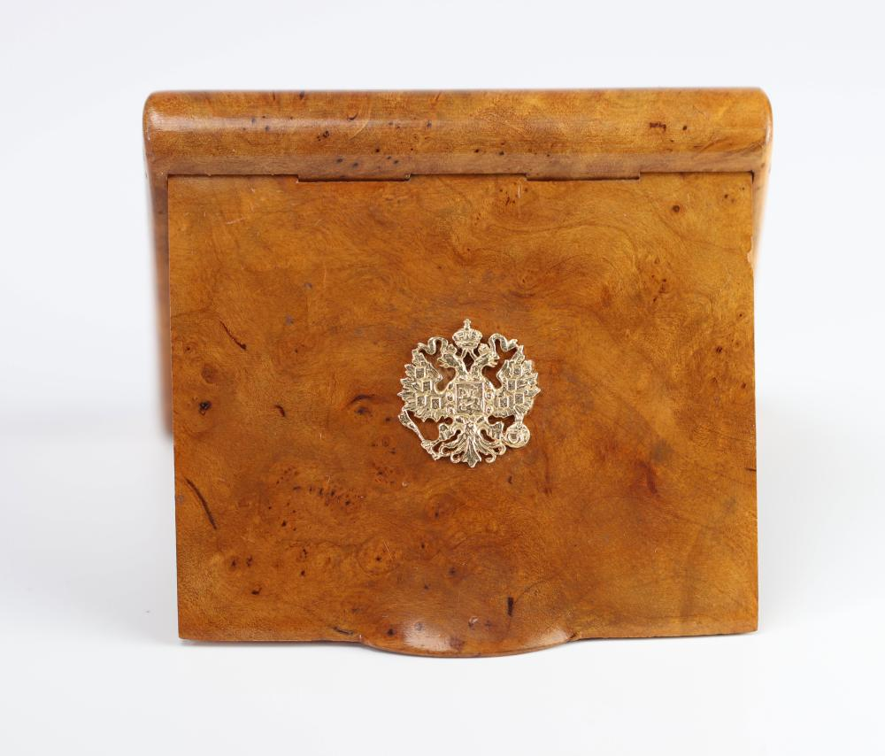 """Russia magnifying glass box decorated with a double-headed golden eagle """"old Russia New York"""" S"""