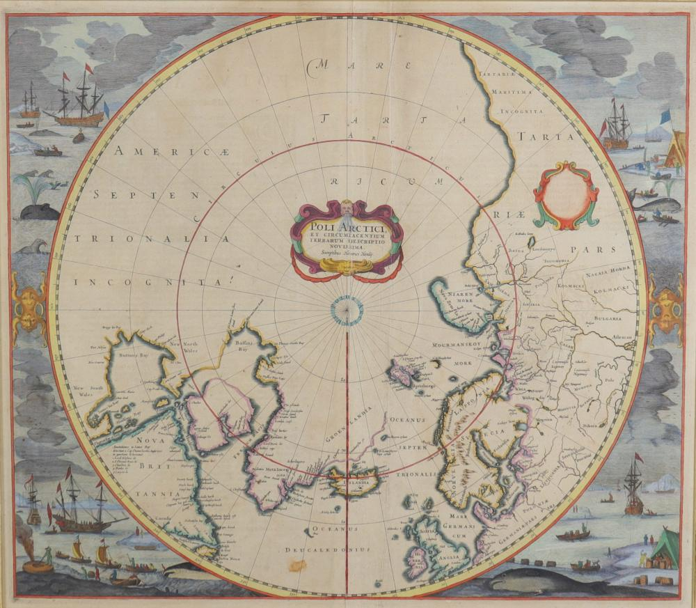 Map of the Arctic Pole Sizes: Cadre H=670mm L=740mm Carte H=450mm L=510mm Weight (K): 5,4k