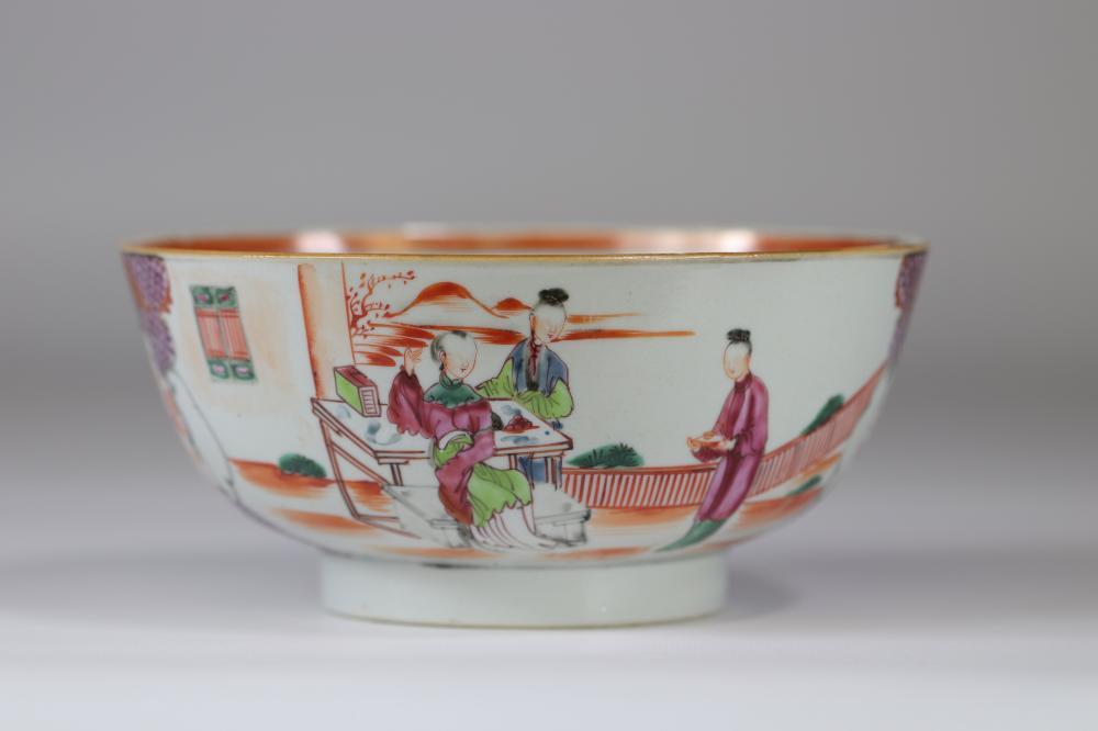 China imposing mandarin bowl Qianlong 18th Sizes: H=90mm D=195mm Weight (K): 0,5kg Co