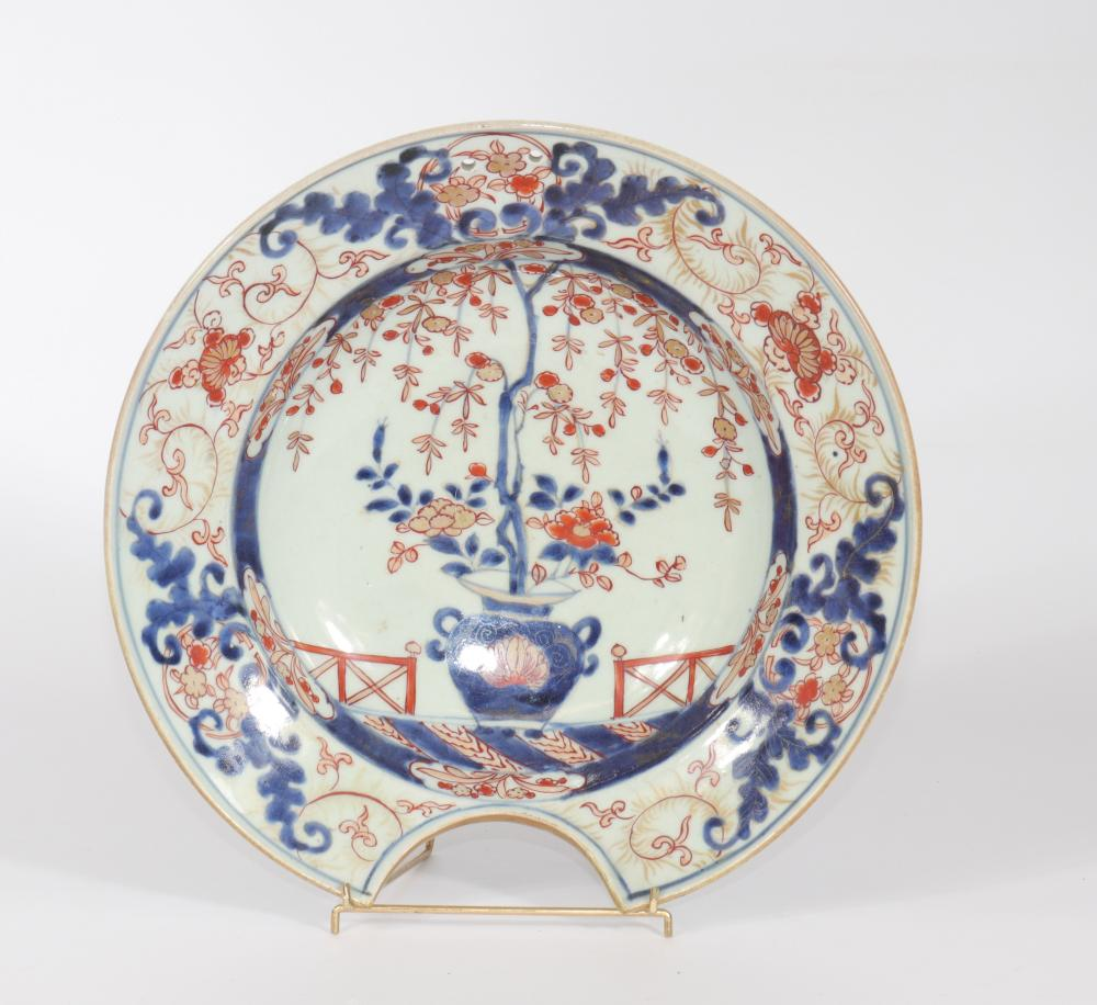 China porcelain beard dish Japanese decor 18th Sizes: D=280mm Weight (K): 0,91kg Cond
