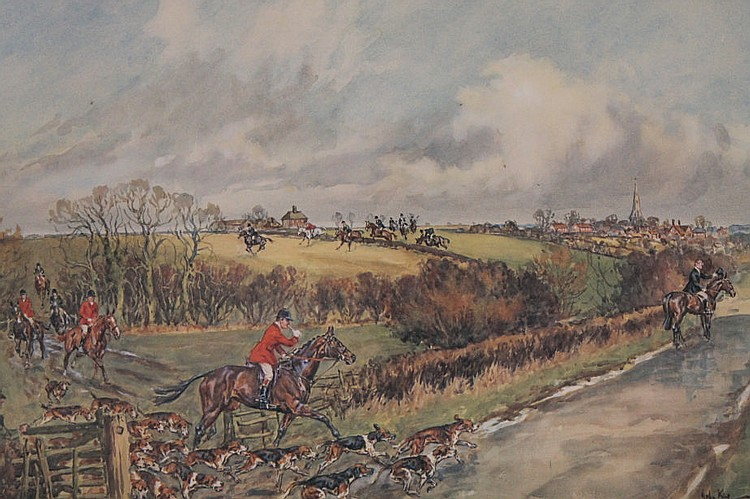 * John King (20thC). The Belvoir Hunt, Huic Holloa