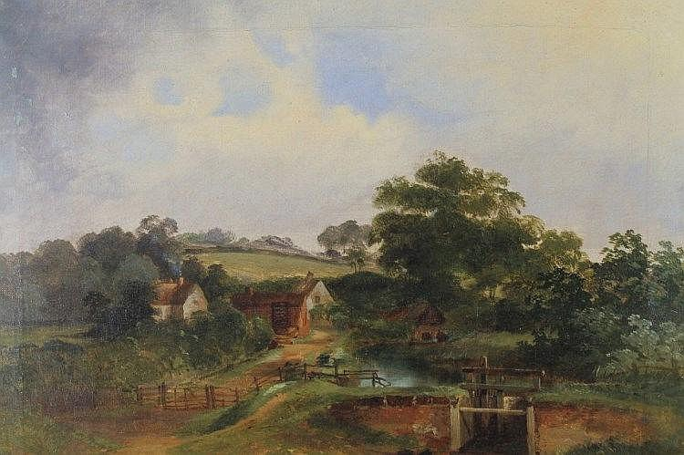 Henry W Henley (19thC). Sutton park, oil on canva