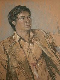 Peter Rasmussen (b.1927). David, pastel, signed