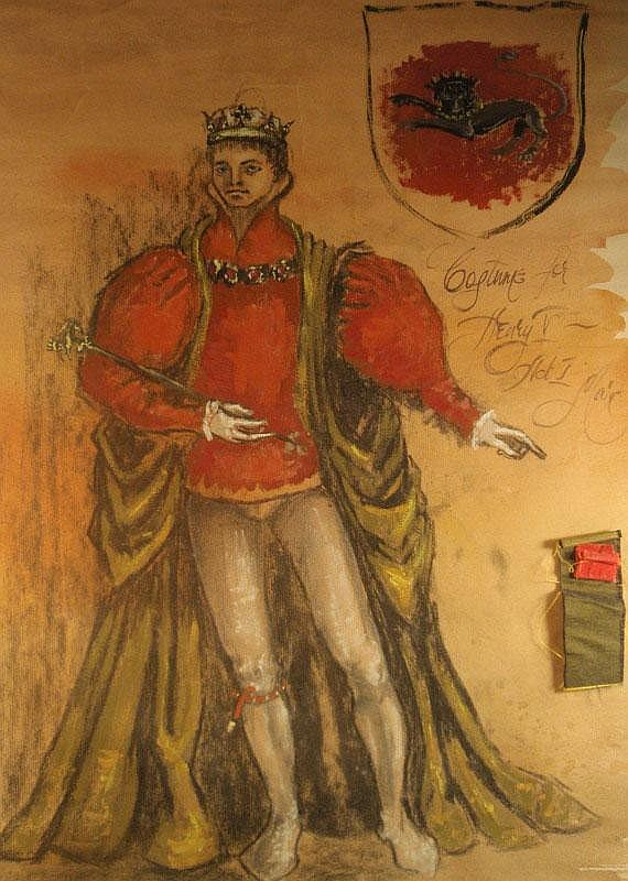 Mark King (20thC). Original costume design, Henry