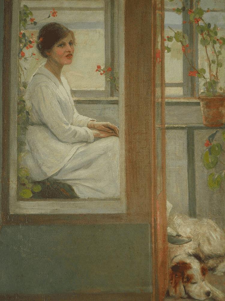 Geoffrey Alan Baker (1881-1959). Female seated