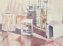 Barbara Phillips. Modern composition with cubes