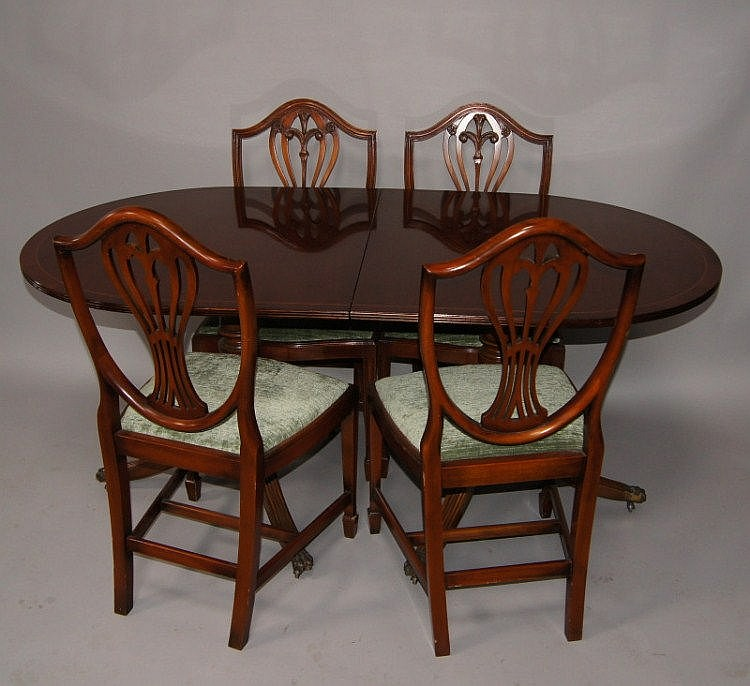 Sold Price A Reproduction Regency Twin Pillar Dining Table August 6 0113 10 00 Am Bst
