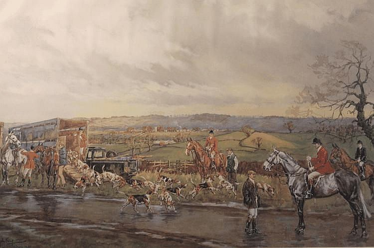 John King. 'Quorn Hunt 1985', limited edition