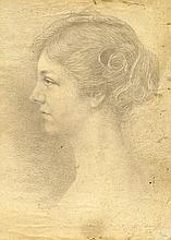 Adolphe Jean Hamesse (1849 - 1925), Ritratto di Suzanne Kurten. 1920